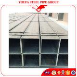 Sección hueco rectangular cuadrada galvanizada soldada negra del tubo de acero de ERW