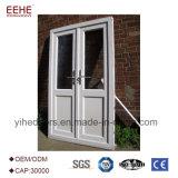 Porta dobro de vidro dobro de alumínio residencial de portas de entrada do balanço da folha