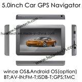 """2018 OEM van de Fabriek GPS van de Auto het Draagbare Systeem van de Navigatie met het """" Scherm van Aanraking 5.0, aV-binnen, Bluetooth, de Zender van de FM; Europese GPS Kaart, Tmc, de Functie van TV isdb-t"""