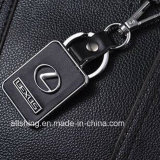 Het Embleem Keychain van de Auto van de Sleutelring van het Leer van de Manier van het Embleem van de Auto van de manier