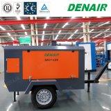 Mobile energía diesel compresor de aire de tornillo para la ladera montañosa Shotcrete
