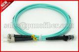 2.0mm 10Gbps MTRJ al cavo di zona ottico duplex della fibra della st OM3