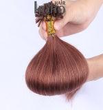 Acessório de cabelo castanho 12 polegadas U cutícula da ponta do cabelo alinhado