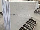 Lastra di marmo artificiale bianca all'ingrosso della Cina per le mattonelle ed il controsoffitto