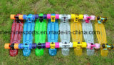 PC 22 '' u. 27 '' Plastikblinkendes Penny-Vorstand-MiniSkateboard