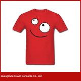 T-shirts de publicité bon marché blanc d'usine de la Chine avec propre logo (R141)