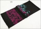 Зимы чывства кашемира женщин людей шарф печатание Unisex реверзибельной теплый толщиной связанный сплетенный (SP811)