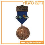 Médaillon vert fait sur commande /Medal (YB-MD-486) en métal 3D de couleur verte d'émail
