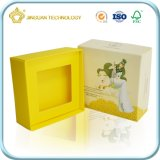 Rectángulo de regalo de empaquetado de papel de lujo para la vela o la joyería del jabón