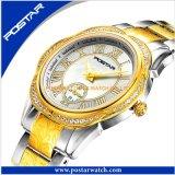 Luxuxarmbanduhr populär alle Edelstahl-Form-Uhr