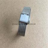 12 14 16 18 20 22mm ondulent le bracelet de montre de maille d'acier inoxydable