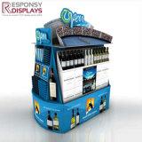 Metallo di disegno di modo e mensole di visualizzazione acriliche della bottiglia di vino