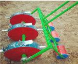 絶頂の新型3は3つの車輪のトウモロコシの種まき肥料プランターマニュアルの種取り機を漕ぐ