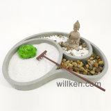 Cadeau carré de table de décoration de maison de jardin de Zen de Bouddha