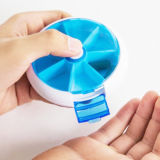 Förderung-Geschenk-Medizinwöchentlicher Pillbox 7 Tagtablette-Behälter