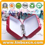 ハンドバッグの形の小型小さいハンドルの錫の箱の金属の収納箱