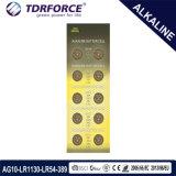 Tasten-Zellen-Batterie des Mercury-1.5V 0.00% freie alkalische für Uhr (AG13/LR44)