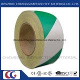 Cinta adhesiva de la raya de la marca reflexiva verde y blanca del diseño (C1300-S)