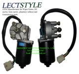 24V 80W 30rpm-45rpm DCの明白なキー及びねじシャフトが付いている電気ワイパーのワームギヤモーター