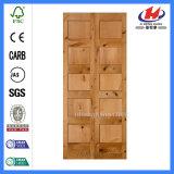 Projetos da porta principal na porta de madeira do abanador do Teak