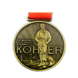 De uitstekende kwaliteit Gegraveerde Antieke Douane van de Medaille van de Herinnering Runnning 3D (yb-m-011)