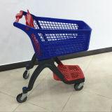 Он-лайн супермаркет вагонетки нажима руки покупкы все пластичные магазинные тележкаи