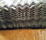 Tuile de toit enduite par zinc d'onde ridée galvanisée couvrant la feuille