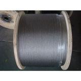 높은 탄소 강철 케이블을 게양하는 직류 전기를 통한 철강선 밧줄 6X36 Iwrc
