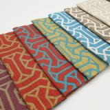 El hilado del telar jacquar teñió la tela 100% de tapicería de la almohadilla de la silla del sofá de la materia textil del hogar del poliester