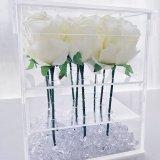 Rectángulo de acrílico de la flor de la dimensión de una variable del lucite del rectángulo cuadrado superventas de la flor con el precio bajo