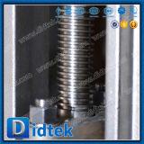 Valvola a saracinesca manuale dell'acciaio inossidabile della flangia certa del fornitore di Didtek