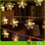 les quirlandes électriques de flocon de neige de Noël de 1.5W 40 DEL chauffent la lumière blanche de chaîne de caractères de la base 16FT/5m DEL de 2900K USB