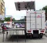6 ton Mobiele LEIDENE de Vrachtwagen van het Scherm het Stadium die van 30 M2 Voertuig uitvoeren