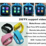 intelligente Positions-Verfolger WiFi GPS der Kind-3G Uhr mit Kamera