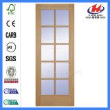 Commerce de gros de luxe en bois solides porte en verre (JHK-FD06X)