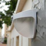 Pared de luz solar lámpara de valla de jardín exterior con sensor