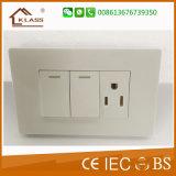 Interruptor leve da parede elétrica americana da maneira do grupo 2 do padrão 2