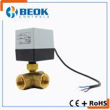 3 e 2 vias da válvula de esfera motorizadas para Floorheating termóstato de água