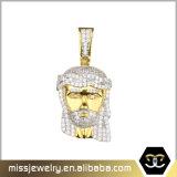 Pendente progettato New- Mjhp104 della collana della parte del Jesus dell'oro di Bling