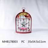 Metalltaktgeber-Vogel-Rahmen-Entwurf im roten Ende für Hauptdekoration
