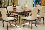 Tabelle pranzanti intagliate mano laccate dorate di lusso di legno solido di alta lucentezza E70-1