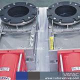 압축 공기를 넣은 액추에이터 웨이퍼 유형 칼 게이트 밸브