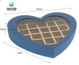 Coração Chocolate Caixa de embalagem de papelão com janela de PVC