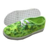 L'iniezione della tela di canapa dei bambini calza i pattini casuali delle calzature per i capretti (ZL1219-6)