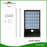 36LED à alimentation solaire Mur d'éclairage extérieur la lumière du capteur de mouvement IRP