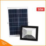 30W/50W Lumière solaire Projecteur LED de plein air de sécurité lampe solaire