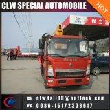 기중기, 최신 판매를 위한 8*4 트럭 기중기의 적재 15 톤을%s 가진 트럭에 의하여 거치되는 기중기