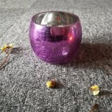 Supporto di vetro del vaso di arte viola per la decorazione domestica