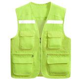 Het openlucht Zuivere Vest van Workwear van de Mens van het Netwerk van de Veiligheid van de Kleur In te ademen