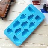 Le fruit a formé le moulage bleu de gâteau de silicones de nourriture de qualité de Lonvly
